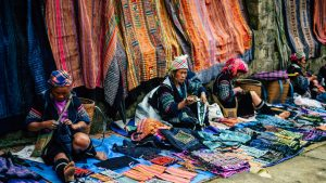 Sapa hill tribe market, Vietnam, included in tours offered by Asia Vacation Group