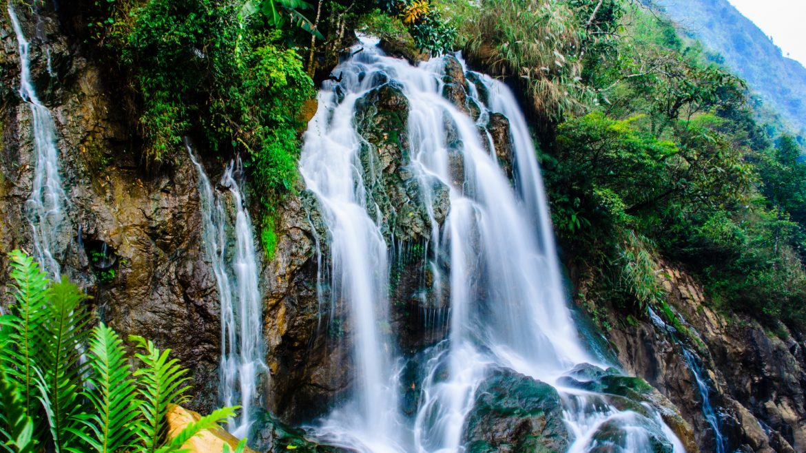 Silver waterfall, Sapa, Vietnam, included in tours offered by Asia Vacation Group