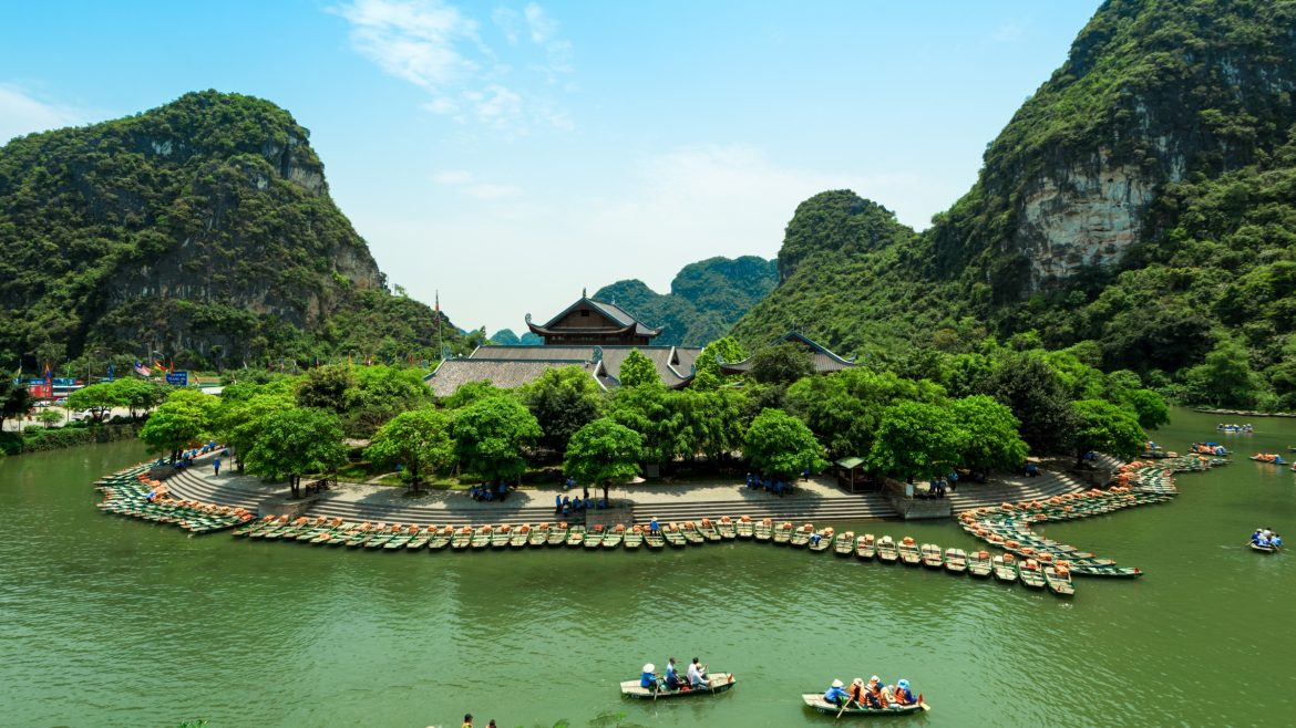 Trang An lake, Vietnam, included in tours offered by Asia Vacation Group