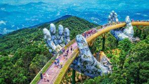 Golden Bridge in Ba Na, Da Nang, included in tours offered by Asia Vacation Group