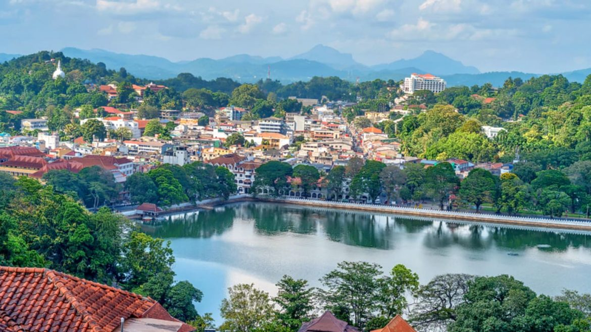 andy city, the capital of the highlands in Sri Lanka