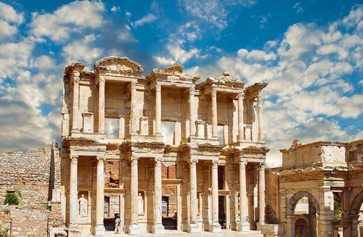 The library of Celsus in Ephesus (Turkey)