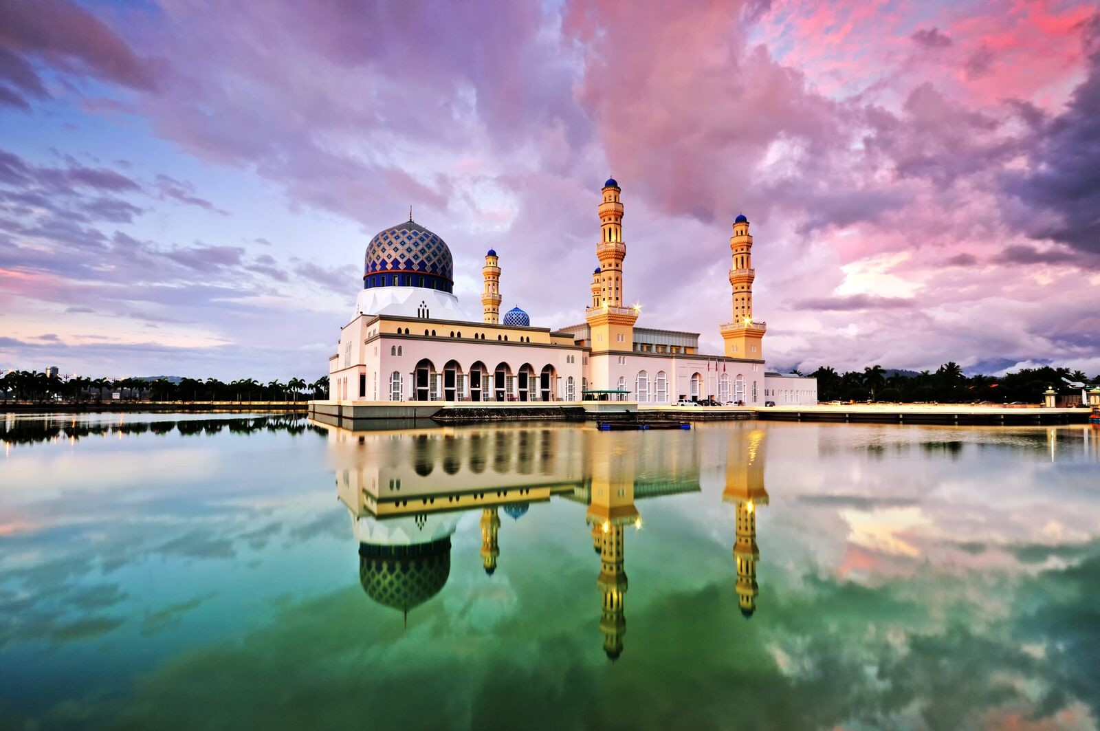 Mosque Farview Sunset in Kota Kinabalu, Malaysia, included in tours offered by Asia Vacation Group